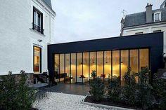 Design teeps Extension Verrière atelier salon dedans/dehors