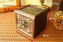 1pcs 8*8*8cm Vintage small wooden Restoring box storage candy Cases Jewelry Box wood joyero organizador jewelry boxes(China (Mainland))