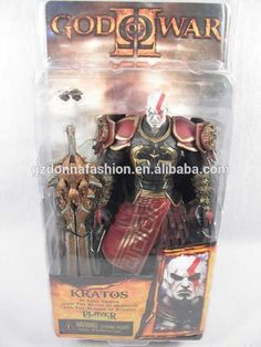 """7/"""" God of War 2 Kratos flame Action Figure movable in box"""