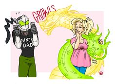 I think this is cute n all, but Genji lost like 80% of his body...