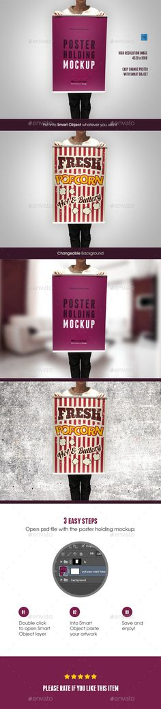 Poster Holding Mockup - Posters Print