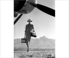 """the art of travel"" fashion photo, Vogue 1951"