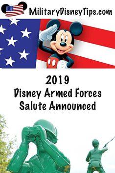 2019 Disney Armed Forces Salute Renewal Announced! Disney Theme Park Tickets, Disney World Tickets, Walt Disney World Vacations, Disney World News, Disney World Tips And Tricks, Disney Tips, Disney Magic, Disney Money, Disney On A Budget