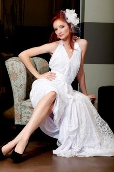 Sunset Bride/Greek Goddess Gown.    For more info. Check out www.facebook.com/KalliAlbaBridalCouture