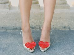 The perfect Valentines Day heels.. Vivienne Westwood's Melissa heart shoes
