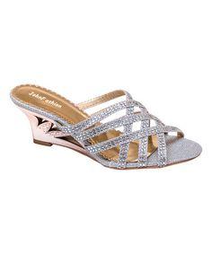 Look what I found on #zulily! Silver Crisscross Cutout Sandal #zulilyfinds
