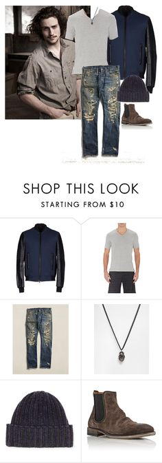 """Sterling Longmire"" by ashleyr0sexo ❤ liked on Polyvore featuring Goodlife, Icon Brand, John Varvatos, men's fashion and menswear"