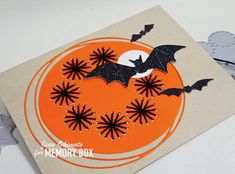 Bats and stitches Halloween Cards, Easy Halloween, Halloween Pumpkins, Thread Crochet, Embroidery Thread, Bat Flying, Fall Cards, Wax Paper, Black Glitter