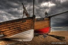 Old wooden boats - England.