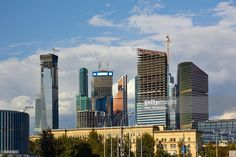 View of the Moscow City (Moscow International Business Center or Moskva-City).