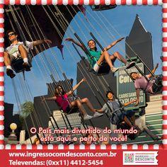 Hopi Hari é um parque completo, com muitas atrações e diversão garantida para toda a família. Gostou? Então vem curtir! Compre agora: www.ingressocomdesconto.com.br Televendas: (0xx11) 4412-5454