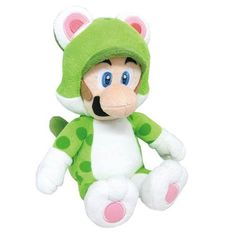 From Super Mario World comes this Cat Luigi tall plush. It's not a flying cat, it's just Luigi! This Cat Luigi has him in his green cat suit. This Cat Luigi Plush makes a great gift for any Super Mario Bros. Mario Plush, Mario Toys, Mario Bros., Nintendo, Super Mario Bros, Plush Dolls, Doll Toys, Luigi, Videogames