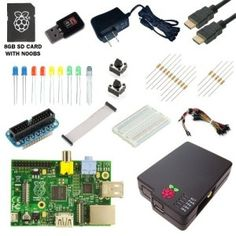 CanaKit Raspberry Pi Ultimate Starter Kit (Over 35 Components: Raspberry Pi + WiFi Dongle + SD Card + Case + Power Supply and many more). Raspberry Pi Wifi, Raspberry Pi Computer, Rasberry Pi, Projetos Raspberry Pi, Build Your Own Computer, Box Software, Sd Card, Card Case, Holiday Gift Guide