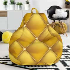 gorgeous 35 Attractive Patterned Bean Bag Chairs Ideas For You This Year Chair One, Homemade Beans, Soft Chair, Golden Pattern, Bag Chairs, Traditional Furniture, Bean Bag Chair, Just For You, Bags