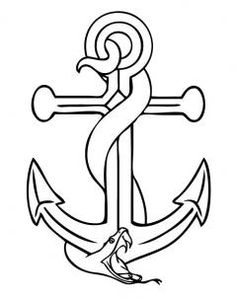 How To Draw An Anchor Step 6