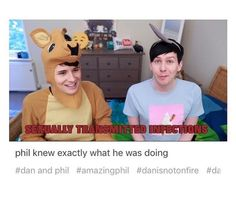 """I love how Dan just looked at him like """"ummm what?"""""""
