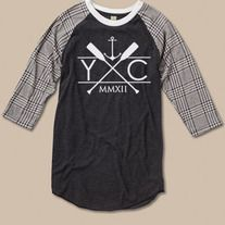 The Yacht Club take on the classic baseball tee, we gave this sporty shirt an extra hit of style with the Imperial design and houndstooth print. Features a sold jersey body with contrasting 3/4-length printed sleeves. Made of unbelievably soft Eco-Jersey from our eco-friendly Yacht Club Collectio...