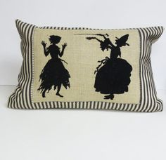 Witch Pillow  Decorative Kidney Pillow Cushion by ecarlateboutique, $38.00
