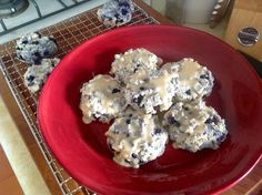 Gluten Free Blueberry Candied Ginger Scones with Ginger Glaze