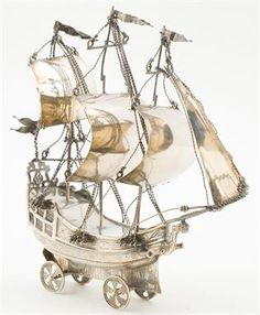 "Lot 66 – Silver boat. First of 20th Century – Antiques from 13th to18th Centuries Furniture from the Palace ""Palau de les Heures"" 19th and 20th Century Paintings and drawings 19 Jun 2015"