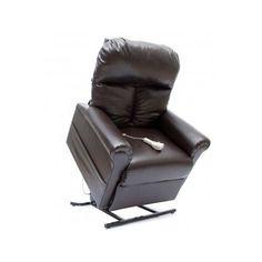 Lift Chair Vinyl Power Seat Medical Adjustable Brown Recliner Elderly Remote Aid #NA