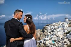 Kostas & Natasa, during their next day wedding portrait session, on the island of Santorini! Santorini's sky and architecture is the perfect background for amazing wedding photos! Photography by Giorgos Dedes in Oia Santorini for www.studio-dedes.gr Book your wedding date by sending me a facebook message or please visit my website www.studio-dedes.gr  Now booking available dates for 2019 and 2020! Wedding Portraits, Wedding Photos, Wedding Day, Oia Santorini, All Over The World, Dates, Greece, Wedding Photography, Sky