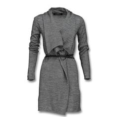 Long Cardigan in medium grey heather