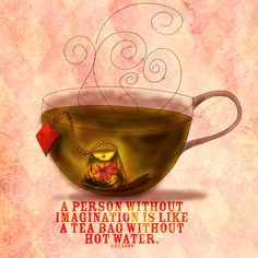 What my Tea says to me by Jennifer Cook, via Behance