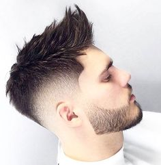 Mens Haircuts Short Hair, Cool Hairstyles For Men, Cool Haircuts, Hairstyle Men, Short Quiff Haircut, Hipster Haircut, Hair And Beard Styles, Short Hair Styles, Drop Fade Haircut