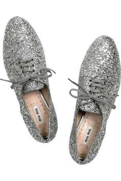 miu miu glitter oxfords