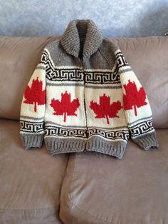 cowichan salish cardigan sweater knitting colourwork inspiration maple leaf