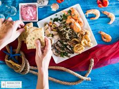 Combine seafood flavors during the fasting period with our traditional handmade pita!  #Αchaikipita