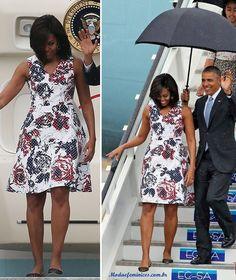 O vestido de Michelle Obama em visita a Havana