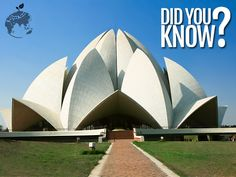 More than 10,000 different sizes of marble were used in the construction of the Lotus #Temple.