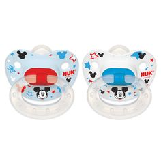 NUK Disney Orthodontic 6 - 18 Months Silicone Pacifier 2 Pack - Mickey Mouse