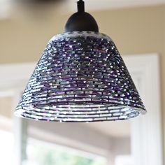 Fused Glass Pendant Light by LJ Glass Designs