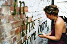 Como escrever com musgo - pap - plantando musgo na parede - SENSACIONAL!!!