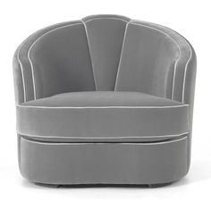 Beautiful Gray Josephine Chair by MUNNA ❤ liked on Polyvore featuring chairs y art deco