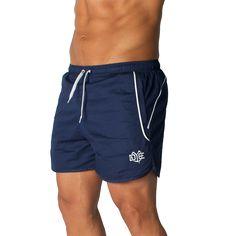 DYE Aero-Stripe Shorts - Navy Striped Shorts, Athletic Shorts, Workout Wear, Gym Men, Navy, Fitness, Swimwear, How To Wear, Clothes