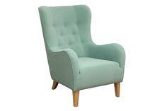 Fotel miętowy Soft Mint | designer,ski