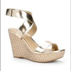 Ann Taylor NWOT Gold Wedges Never been worn gold wedges. PRICE IS FIRM. Ann Taylor Shoes Sandals