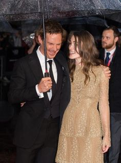 What a beautiful trio! | Benedict Cumberbatch Makes One Lucky Umbrella's Dreams Come True