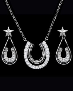 Montana Silversmiths® Ladies' CZ Horshoe & Star Jewelry Set::Jewelry Sets::Jewelry::Ladies::Fort Western Online