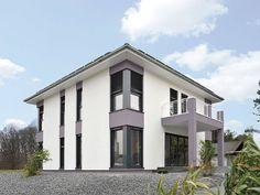 Sind Energiesparhäuser eigentlich immer aus Holz und haben Solarzellen auf dem Dach? Mit seinem Musterhaus Frankfurt beweist der Fertighaushersteller Streif, dass es auch anders geht. Das Haus wurde als zweigeschossige Stadtvilla im Bauhausstil konzipiert.
