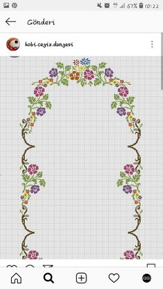 Needlepoint Stitches, Cross Stitching, Stitch Patterns, Bullet Journal, Diy Crafts, Floral, Cross Stitch Borders, Cross Art, Home Decorations