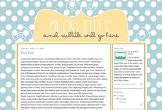 Michael's Template - Help raise money for Ebstein's Anomaly Foundation by purchasing this cute blog design!