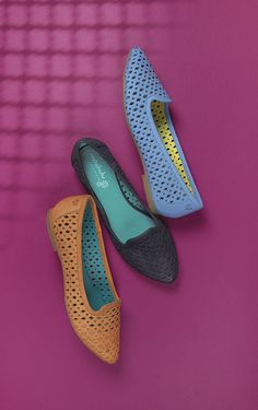 Tagine pin-punch detail pointed flats   Moshulu