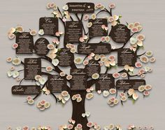 Wedding table plan printable rustic seating plan, DIY seating chart wedding Ideas, wood effect, print and trim, includes 4 tree backgrounds