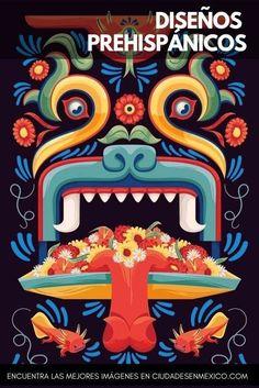 13 Geniales diseños prehispanicos para tu móvil | Los diseños de nuestra cultura prehispánica son impresionantes, tienen una calidad máxima y muchos de ellos aún no tienen explicación. #méxico #diseñografico #fondosdepantalla #azteca #colores #quetzalcoatl #ciudadesenmexico Mexican Graphic Design, Mexican Designs, Art Chicano, Mexican Pattern, Art Tribal, Mexico Art, Wow Art, Mexican Folk Art, Mural Art