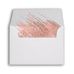 Modern Rose Gold Wedding A2 Thank You Envelope - wedding thank you gifts cards stamps postcards marriage thankyou